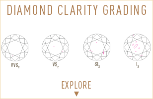 Understanding the GIA Diamond Clarity Grading system. Learn more about how the Clarity of the stone affects the overall price of the Diamond.